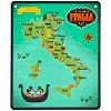 Disney Wall Sign - Epcot Italy Map with Mickey and Minnie Gondola