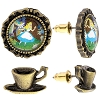 Disney Earrings  - Alice Scene Cameos and Teacups - Set of 2