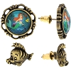 Disney Earrings - The Little Mermaid Scene Cameos Ariel and Flounder