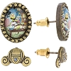 Disney Earrings - Cinderella Scene Cameos and Carriages - Set of 2