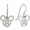 Disney Drop Earrings - Mickey Icon 4 Fold Celtic Knot