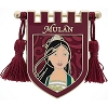 Disney Pin - Princess Mulan Crest Banner with Tassels