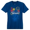 Disney Adult Shirt - Happily Ever After Fireworks - Blue with Castle