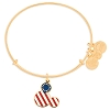 Disney Alex and Ani Charm Bracelet - Mickey Mouse Icon Flag - Gold