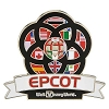 Disney Pin - Epcot Flags Banner
