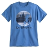 Disney Adult Shirt - Mickey Mouse Silhouette Tee - Blue