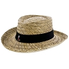 Disney Straw Hat - Black Band with Classic Mickey