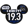 Disney Car Bumper Magnet - Star Wars Half Marathon 2017 I Did It 19.3