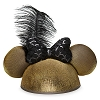Disney Ear Hat - Minnie Mouse Golden with Sequined Bow & Feather