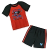 Disney Short Set for Boys - Engineer Mickey - Red and Black