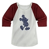Disney Womens Raglan Shirt - Mickey Mouse - Stars and Stripes