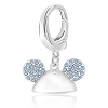 Disney Dangle Charm - Sterling Silver Mickey Mouse Crystal Ear Hat