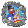 Disney Love Is An Adventure Pin - Figment and Dreamfinder - Mini Jumbo