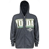 Disney ADULT Hoodie - Star Wars Yoda Zip Up Jacket