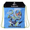 SeaWorld Cinch Bag - 2017 Orca Turtle Sea Lion Dolphin Shark Penguin