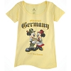 Disney Ladies Shirt - Epcot Germany Willkommen! Mickey and Minnie
