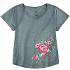 Disney Ladies Shirt - Epcot Norway Rosemaling Mickey Icon Dolman