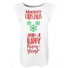 Disney Ladies Tee - Mickey Christmas and A Happy New Year - Snowflake