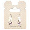 Disney Earrings - Mickey Icon Crystal Drop - Light Pink