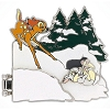 Disney Bambi Pin - 75th Anniversary - Bambi Thumper Characters in Snow