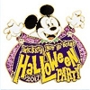 Disney Pin - 2017 Mickey's Halloween Party - Logo - Mickey