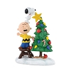 Dept. 56 Figurine - Peanuts Christmas Tree Topper Charlie Brown Snoopy