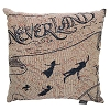 Disney Woven Tapestry Pillow - Peter Pan Neverland Treasure Map