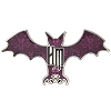 Disney Pin - The Haunted Mansion Wallpaper Bat