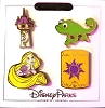 Disney 4 Pin Set - Tangled Icons - Rapunzel Pascal Lantern