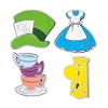 Disney 4 Pin Set - Alice in Wonderland Icons