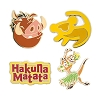 Disney 4 Pin Set - The Lion King - Simba Timon Pumbaa
