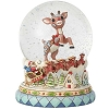 Rudolph Traditions by Jim Shore - Rudolph Holiday Snowglobe