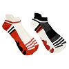 Disney Men's Socks - Mickey Red White and Black - Ankle