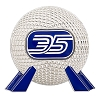 Disney Epcot 35th Anniversary Pin - Jumbo 3D Spaceship Earth