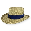 Disney Straw Hat - Navy Blue Band with Classic Mickey