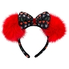 Disney Holiday Headband - Winter Wonderland Minnie Bow with Red Puffs