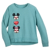 Disney Women's Shirt - Mickey and Minnie Mouse Emoji Top
