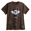 Disney ADULT Shirt - Cool Mickey Mouse - Brown