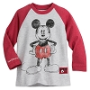 Disney Boys Shirt - Mickey Mouse Two-Sided Raglan - Red