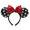 Disney Ears Headband - Minnie Mouse Polka Dots Red Sequined Bow