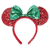 Disney Holiday Ears Headband - Minnie Christmas Red with Green Bow