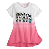 Disney Girls Shirt - Minnie Mouse Skirted Pink & White T-Shirt