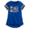 Disney Girls Shirt - Mickey Mouse Team Pennant - Stripe Sleeves