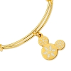 Disney Alex & Ani Bracelet - Snowflake Mickey Ears - Gold