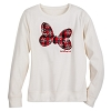 Disney Women's Shirt - Holiday Minnie Bow Long Sleeve
