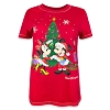 Disney Women's Shirt - Holiday Mickey and Minnie Tree T-Shirt