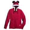 Disney Woman's Zip Hoodie - Minnie Mouse Holiday Hooded Sweatshirt