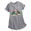 Disney Ladies Night Shirt - Mickey and Minnie Holiday Snowflake Kisses