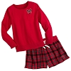 Disney Ladies Holiday Lounge Set - Mickey Mouse Plaid