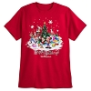 Disney Adult Shirt - Happy Holidays 2017 Mickey and Friends Tee - Red
